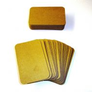 100 x Kraft Rounded Blank Business Cards - 270gsm Brown Kraft Card